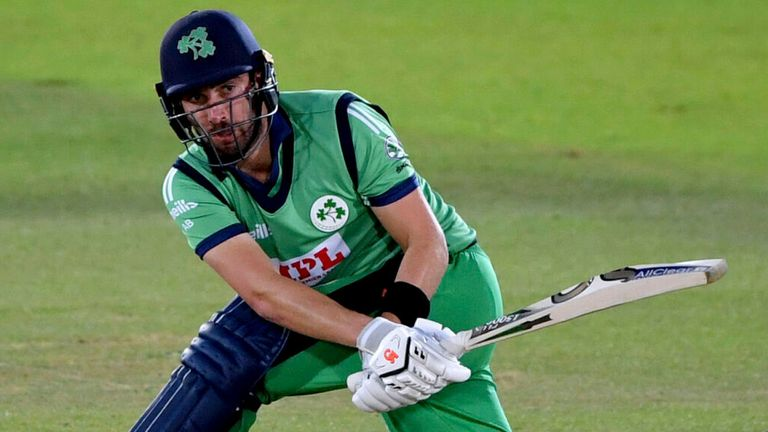 Ireland captain Andrew Balbirnie in action during the third ODI against England at the Ageas Bowl in August