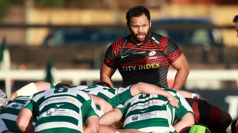 Billy Vunipola started at No 8 in Saracens' loss to Ealing