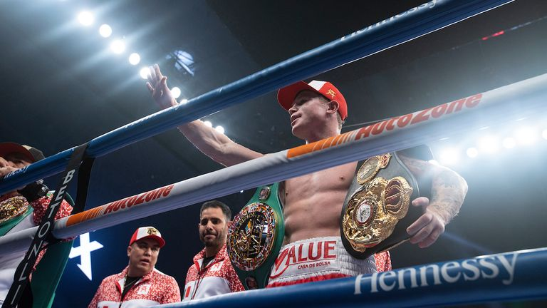 Canelo holds two of the four titles at 168 pounds