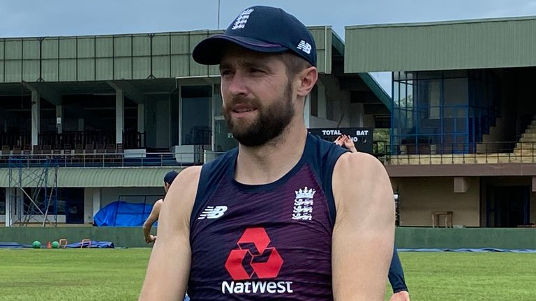 Chris Woakes has rejoined the rest of the England squad for training ahead of the first Test against Sri Lanka. Pic: ECB