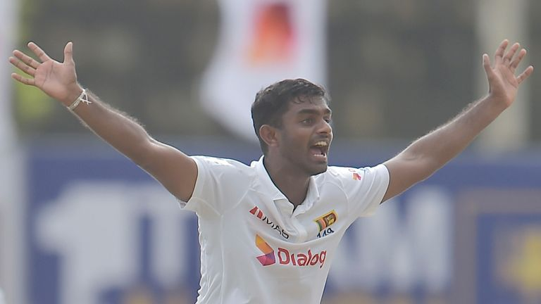 Sri Lanka spinner Lasith Embuldeniya removed both England openers cheaply for the second time in the match