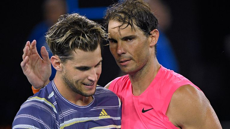 Rafael Nadal (right) and Dominic Thiem suffered coaching setbacks ahead of the Australian Open
