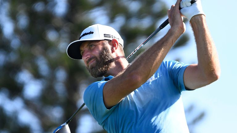 Dustin Johnson also carded a 65 and is just four back