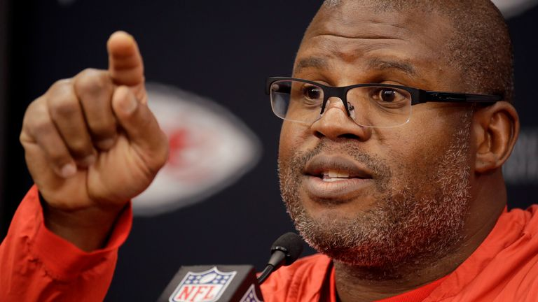 Kansas City Chiefs offensive coordinator Eric Bieniemy is among the leading head coach candidates