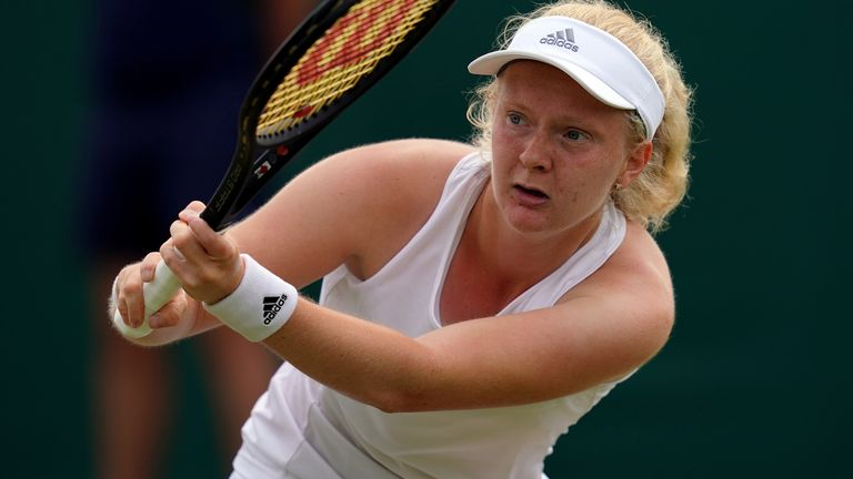 Francesca Jones first Grand Slam match will pit her against 60th-ranked Shelby Rogers, who took a set off world No 1 Ashleigh Barty on Friday
