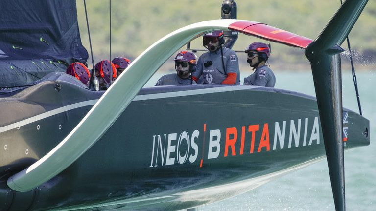 The British team are one race win away from moving into the PRADA Cup final (Image Credit - COR 36 | Studio Borlenghi)