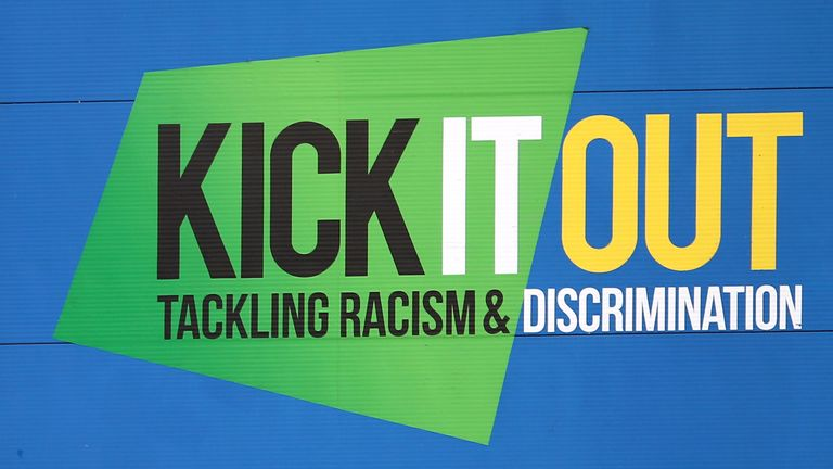 Report discrimination to Kick It Out, football's equality and inclusion organisation, at www.kickitout.org