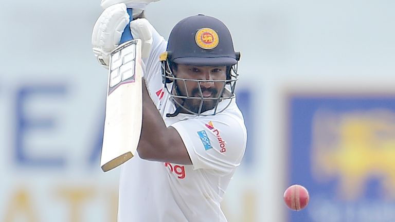 Kusal Perera made a battling half-century for Sri Lanka on day three