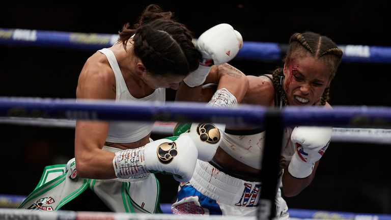 Natasha Jonas says she is worried financially because of the uncertainty over her next fight (Pic: PA)