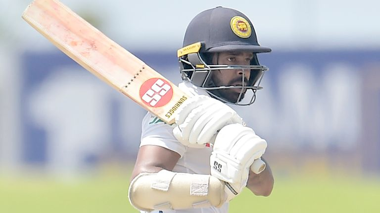 Niroshan Dickwella fell just eight runs short of a maiden Test century