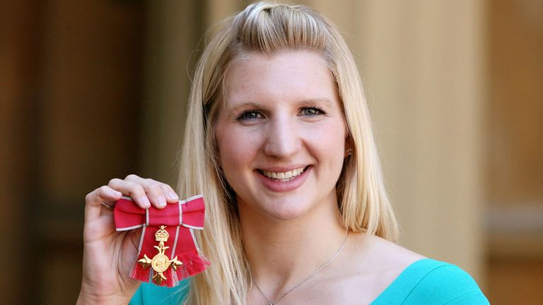 Rebecca Adlington's investiture at Buckingham Palace was tarnished due to the trolling she received about her appearance