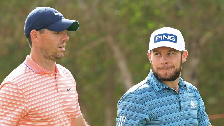 McIlroy is one shot ahead of Tyrrell Hatton