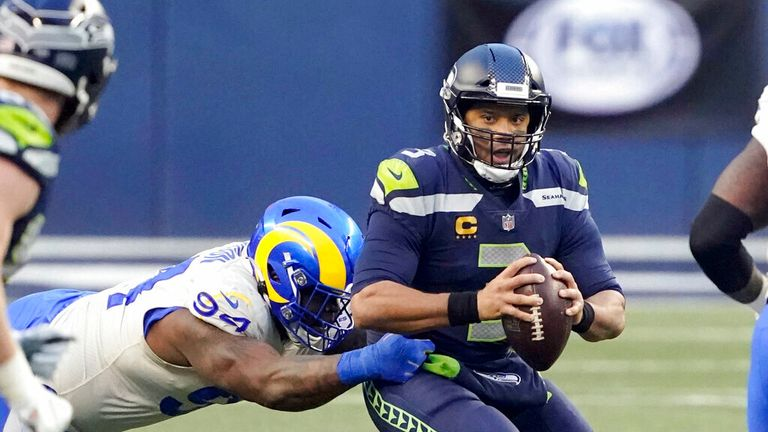 Russell Wilson has been sacked 394 times in his NFL career since being drafted in 2012