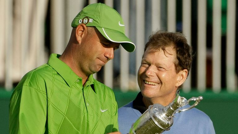 Tom Watson narrowly missed his Open win at the age of 59, losing to Stewart Cink in 2009
