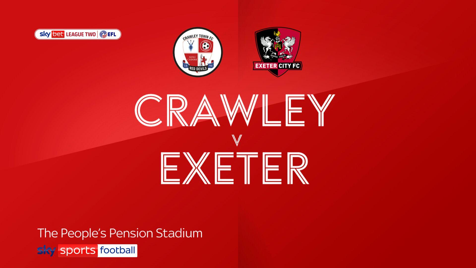 Exeter comeback sinks 10-man Crawley