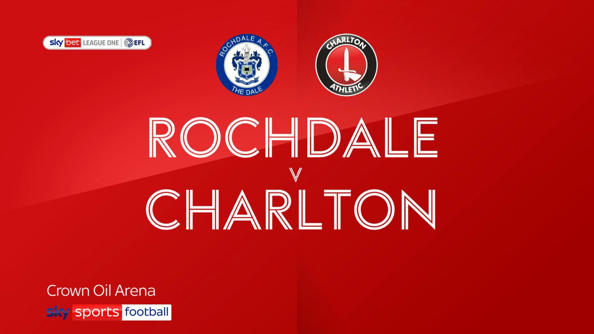 Charlton bounce back to beat Rochdale
