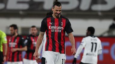 Zlatan Ibrahimovic during AC Milan's defeat at Spezia