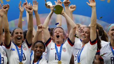 The USA side won the 2019 Women's World Cup after beating the Netherlands in the final
