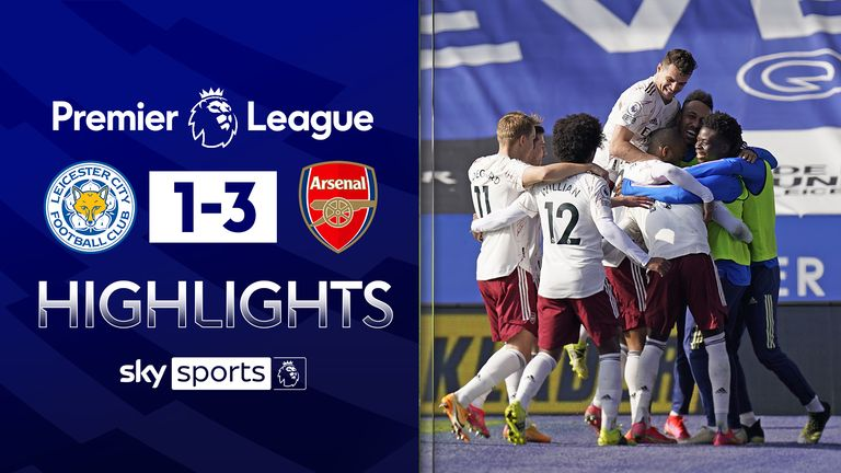 FREE TO WATCH: Highlights from Arsenal's win against Leicester in the Premier League