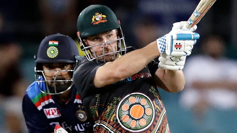 Australia's Aaron Finch averages 37.70 in T20 international cricket with a strike-rate of 154.05