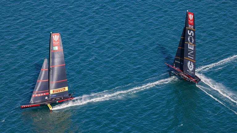 The PRADA Cup Final between INEOS TEAM UK against Luna Rossa Prada Pirelli will determine which team will be the challengers in the 36th America's Cup match (Image Copyright - COR 36 | Studio Borlenghi)