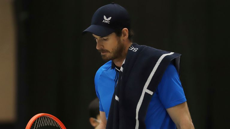 Andy Murray followed his run to the final of a Challenger event with a first round exit at this week's ATP event in Montpellier (AP Photo/Felice Calabro')