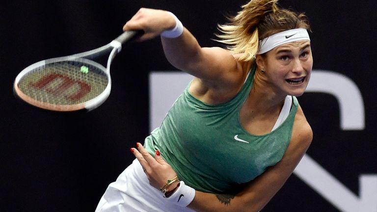 Aryna Sabalenka has won three straight titles (Jaroslav Ozana/CTK Pool via AP)