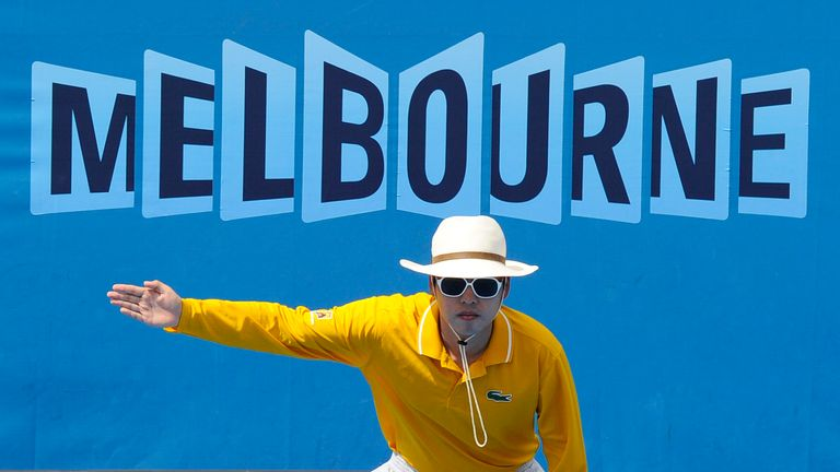In a Grand Slam first, all courts at the Australian Open will feature electronic line calling, replacing on-court line judges