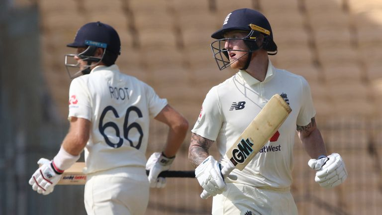 Root and Ben Stokes put on 124 for England's fourth wicket on day two in Chennai (Pic credit - BCCI)