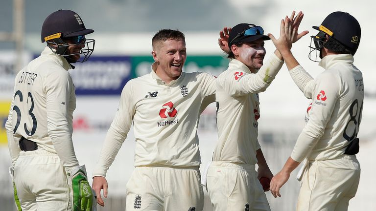 England needed some luck as Bess, Ollie Pope and Rory Burns combined to remove Pujara (Credit: BCCI)