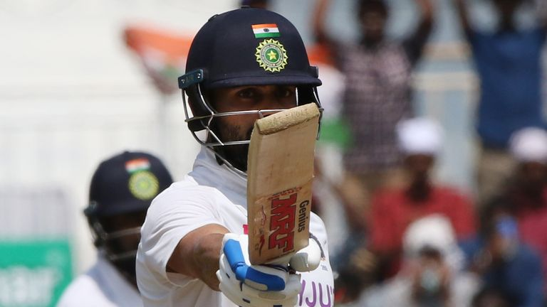 Virat Kohli, who scored 62 in India's second innings, was one of five home batsmen to pass 50 during the second Test