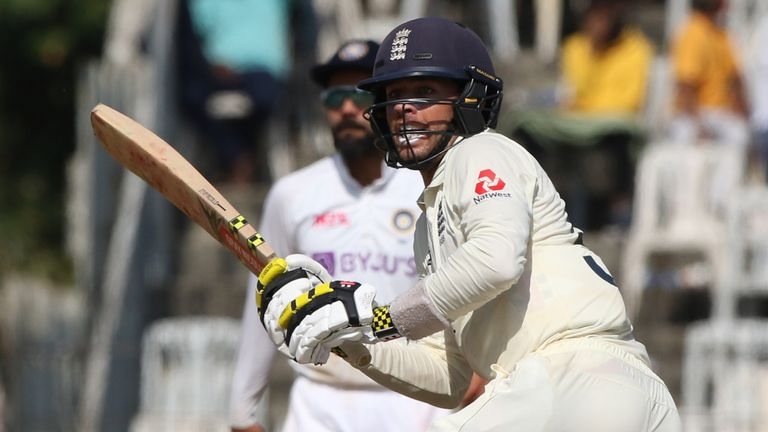 Foakes showed his ability to produce with the bat in England's first innings (Pic credit: BCCI)