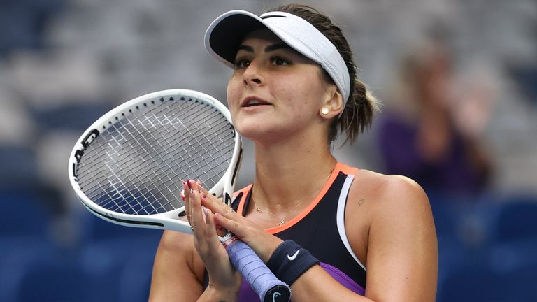 Canada's Bianca Andreescu beat Romanian Mihaela Buzarnescu in her first match in 15 months