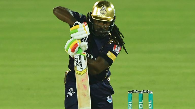 Chris Gayle top-scored for Quetta Gladiators with 39 from 24 balls