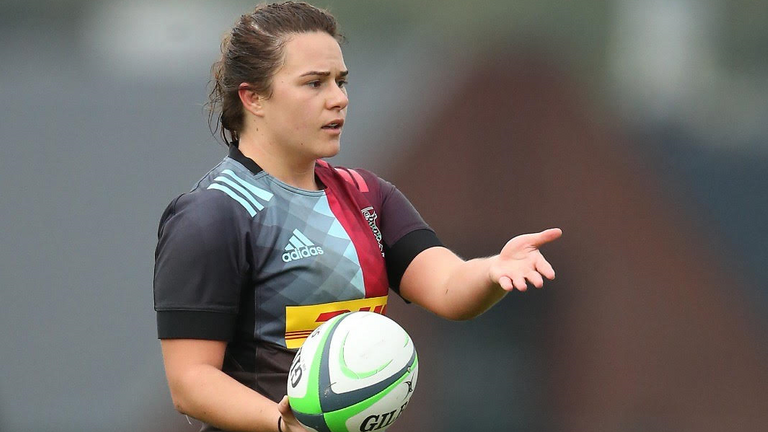 Elle Bloor plays at hooker for Harlequins and is part of their Premier 15s squad
