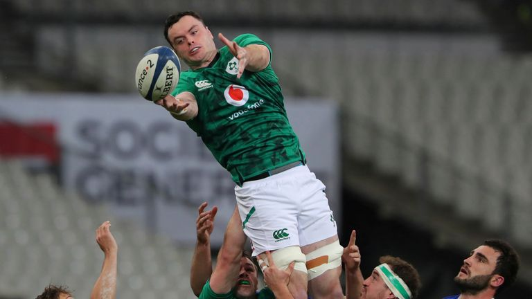 James Ryan sustained a head injury in Ireland's opening Six Nations game against Wales