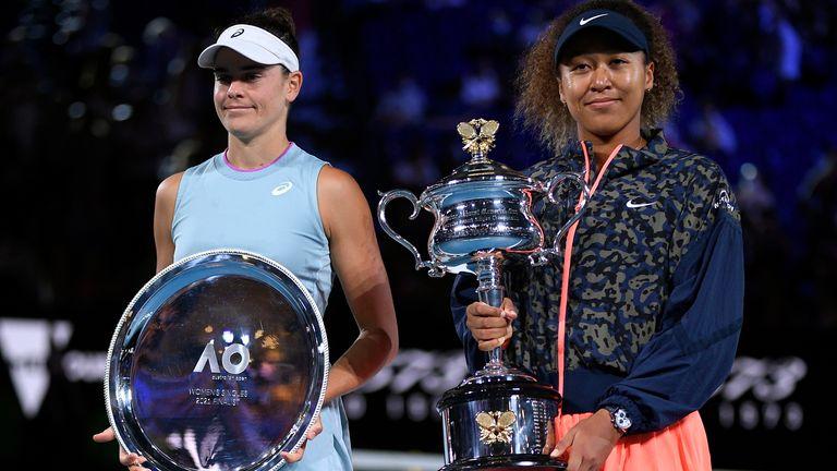Jennifer Brady (left) defied a hard lockdown in Melbourne to reach her first Grand Slam final