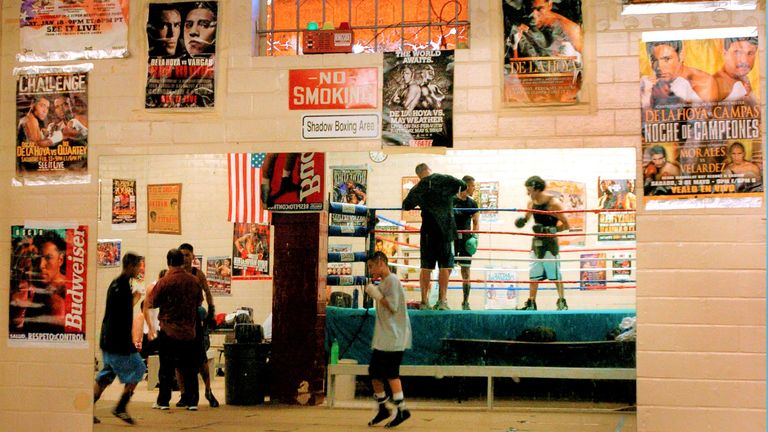 'The Texas Tornado' now oversees training sessions in his boxing gym