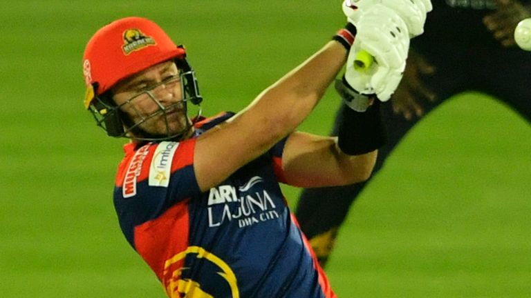 Joe Clarke  hammered three sixes and six fours for Karachi Kings on his Pakistan Super League debut