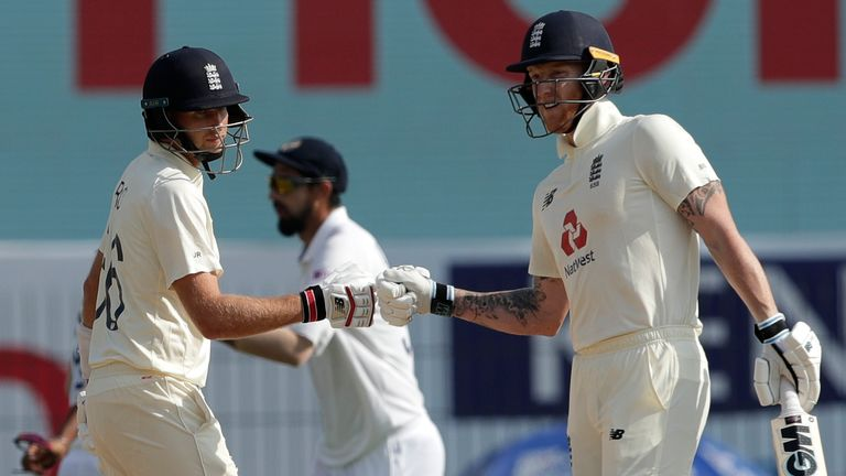 Ben Stokes and Joe Root kept the pressure on India's bowlers either side of lunch (Credit: BCCI_