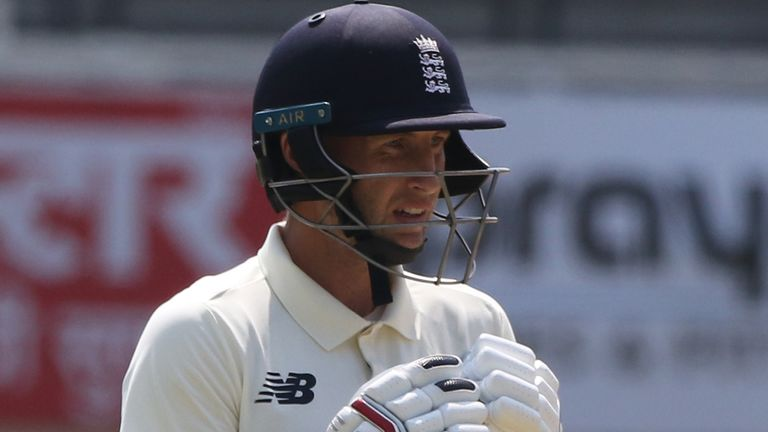 England captain Joe Root made 33 on the fourth day in Chennai (pic credit - BCCI)