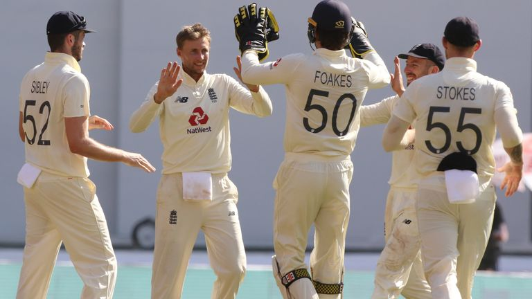 Captain Joe Root celebrates as England claim a wicket against India  (Pic credit - BCCI)