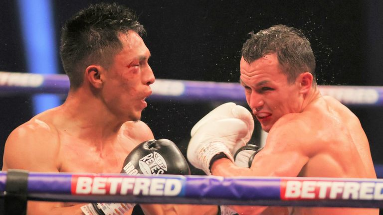 But the Mexican completed a knockout victory in the ninth round
