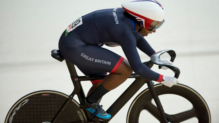Kadeena Cox of Great Britain in action at the 2016 Paralympics in Rio
