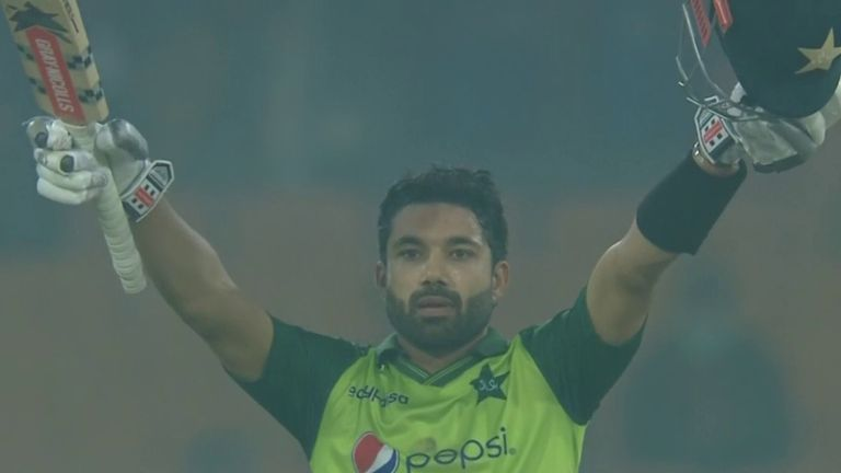 Mohammad Rizwan recently reached his maiden T20 hundred - against South Africa - with a six