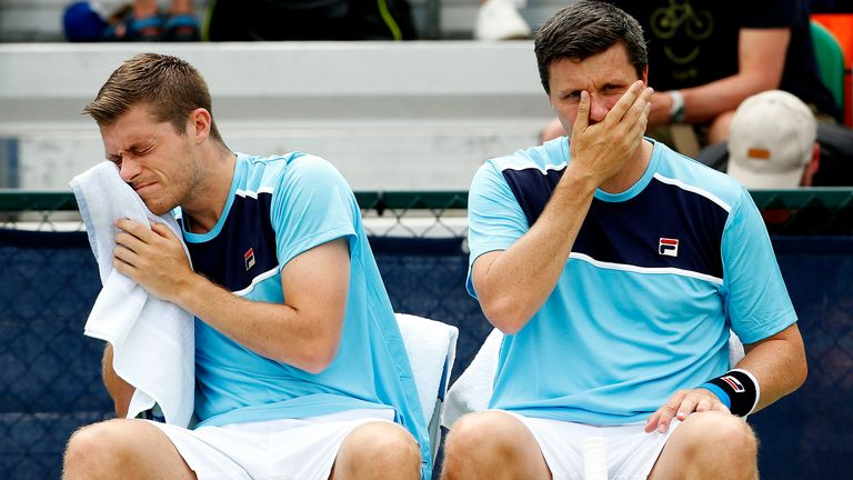 Neal and Ken Skupski made it through to the second round of the Australian Open men's doubles