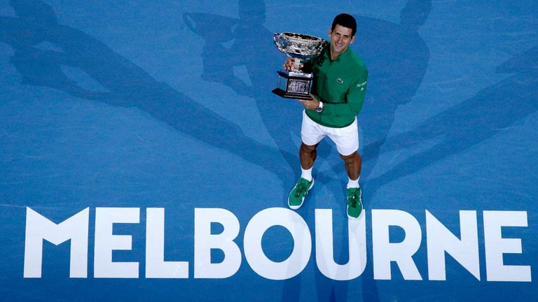 Novak Djokovic will be aiming to lift the Norman Brookes Challenge Cup for the ninth time at this year's Australian Open