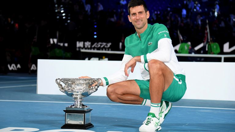 Djokovic won a record-extending ninth Australian Open earlier this year