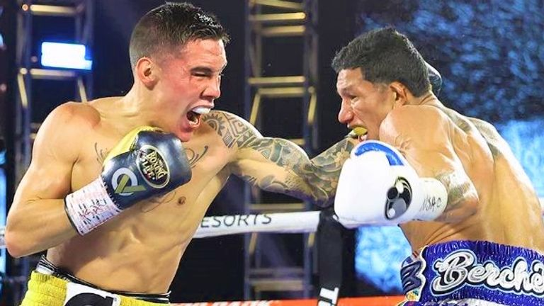 Oscar Valdez stopped Miguel Berchelt to claim the WBC belt