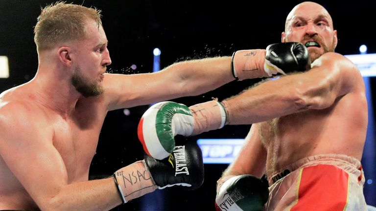 Wallin's only defeat came against Tyson Fury in September 2019